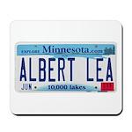 Albert Lea License Plate Mousepad
