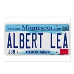 Albert Lea License Plate Postcards (Package of 8)