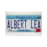 Albert Lea License Plate Rectangle Magnet
