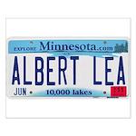 Albert Lea License Plate Small Poster