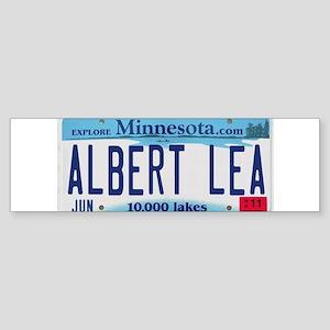Albert Lea License Plate Sticker (Bumper)