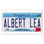 Albert Lea License Plate Sticker (Rectangle 10 pk)
