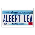 Albert Lea License Plate Sticker (Rectangle)