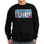 Albert Lea License Plate Sweatshirt (dark)