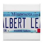 Albert Lea License Plate Tile Coaster