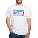 Albert Lea License Plate White T-Shirt
