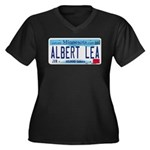 Albert Lea License Plate Women's Plus Size V-Neck