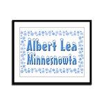 Albert Lea Minnesnowta Framed Panel Print