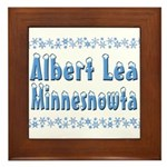 Albert Lea Minnesnowta Framed Tile