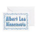 Albert Lea Minnesnowta Greeting Cards (Pk of 20)