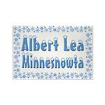Albert Lea Minnesnowta Rectangle Magnet