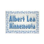 Albert Lea Minnesnowta Rectangle Magnet (10 pack)