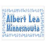 Albert Lea Minnesnowta Small Poster