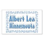 Albert Lea Minnesnowta Sticker (Rectangle 10 pk)