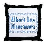 Albert Lea Minnesnowta Throw Pillow