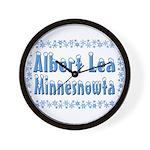 Albert Lea Minnesnowta Wall Clock