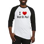 I Love West St. Paul Baseball Jersey