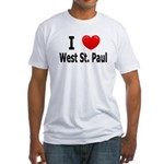 I Love West St. Paul Fitted T-Shirt