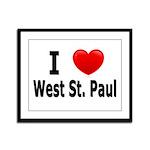 I Love West St. Paul Framed Panel Print