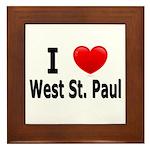 I Love West St. Paul Framed Tile
