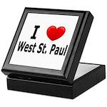 I Love West St. Paul Keepsake Box
