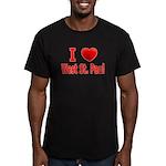 I Love West St. Paul Men's Fitted T-Shirt (dark)