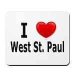 I Love West St. Paul Mousepad