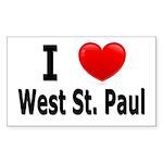 I Love West St. Paul Sticker (Rectangle)