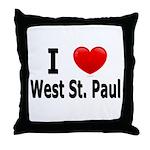 I Love West St. Paul Throw Pillow