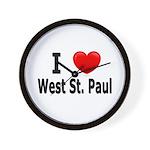 I Love West St. Paul Wall Clock