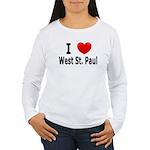 I Love West St. Paul Women's Long Sleeve T-Shirt