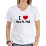I Love West St. Paul Women's V-Neck T-Shirt
