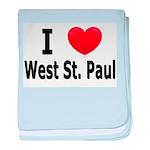 I Love West St. Paul baby blanket