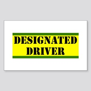 Designated Driver Rectangle Sticker