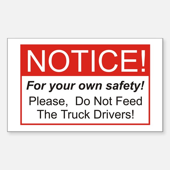 Notice / Truck Sticker (Rectangle)