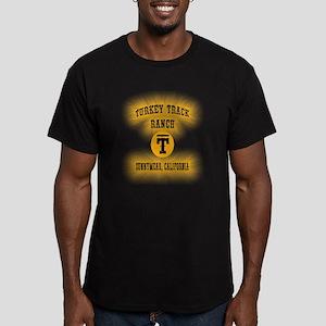 Turkey Track Ranch Men's Fitted T-Shirt (dark)