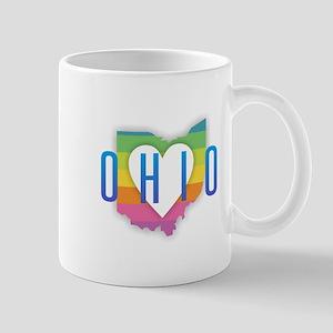 Ohio Heart Rainbow Mugs