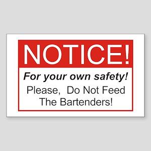 Notice / Bartenders Sticker (Rectangle)