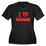 I Love Hackensack Women's Plus Size V-Neck Dark T-