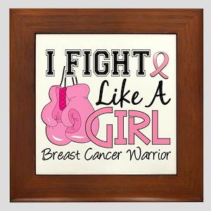 Licensed Fight Like a Girl 15.2 Framed Tile