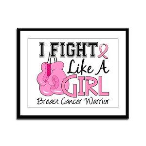 Licensed Fight Like a Girl 15.2 Framed Panel Print