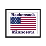 Hackensack US Flag Framed Panel Print