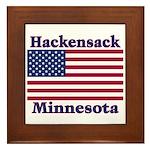 Hackensack US Flag Framed Tile