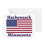 Hackensack US Flag Greeting Card