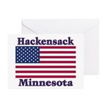 Hackensack US Flag Greeting Cards (Pk of 10)