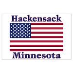 Hackensack US Flag Large Poster
