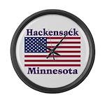 Hackensack US Flag Large Wall Clock
