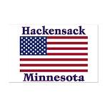 Hackensack US Flag Mini Poster Print