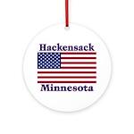 Hackensack US Flag Ornament (Round)