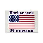 Hackensack US Flag Rectangle Magnet (100 pack)